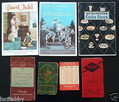 Life Insurance Lot Notebooks Metropolitan Dominion Great West Cook Premium Books