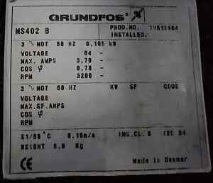 "Grundfos 4"" submersible motor Marion Marion Area Preview"