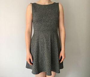 H&M grey open back dress