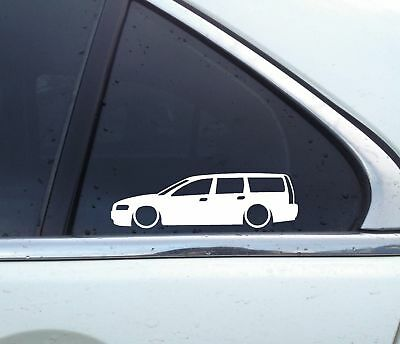 Volvo V70t5 - 2X Lowered low car outline stickers - for Volvo V70 T5, Turbo 2nd Gen