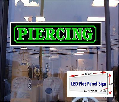 Led Sign Piercing Tattoo Shop Window Sign 48x12 Neon Banner Altern New Gen Led