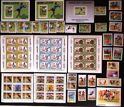 1986 Soccer, Football World Cup collection, some overprint, MNH (343)