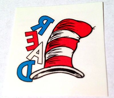 NEW! 24 DR SEUSS CAT IN THE HAT READ TEMPORARY TATTOOS PARTY FAVORS REWARDS