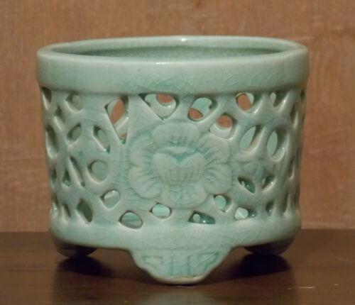 Antique Chinese Celadon Tripod Censer
