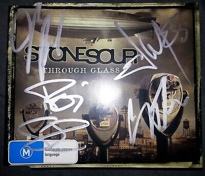Stone Sour SIGNED Through Glass CD Single Slipknot Corey Taylor NEW not tickets