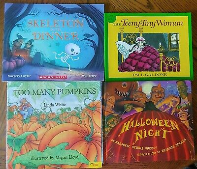 Childrens Halloween Books (Lot of 4 children's picture books  HALLOWEEN)