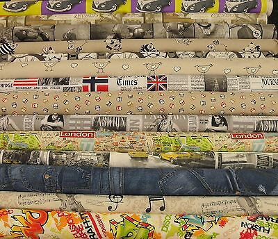 VINTAGE retro fabric  designer material  furnishing fabric