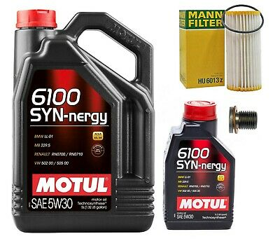 MOTUL OIL CHANGE KIT MANN FILTER  FITS 2.0T TSI ENGINES AUDI A3 TT VW