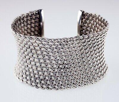 John Hardy Jai Wide Basket Weave Sterling Silver Cuff Bracelet