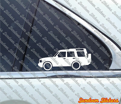 2x offroader stickers - for Land Rover Discovery series 2 | classic