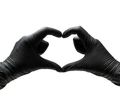 Nitrile Gloves Black Heavy-duty S M L Xl Powder Free 50 100 500 1000case