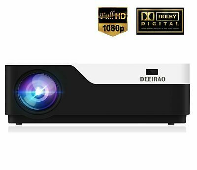 Home Theater LED Projector 1080P Full HD HDMI for Fire TV Stick/PS4 UK Stock