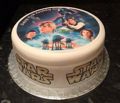 Star Wars 02 pre-cut Edible Icing Cake Topper or Ribbon