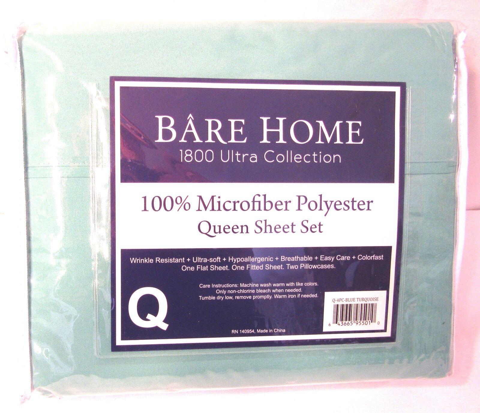Bare Home Premium - Queen Size Sheets - 1800 Ultra-Soft Micr