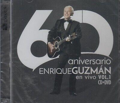 Enrique Guzman NEW En Vivo Vol. 1 / 60 Aniversario 1 CD / 1 DVD SHIPS NOW !