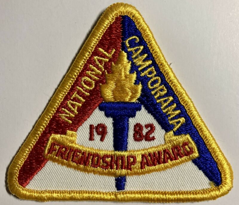 Royal Rangers Patch 1982 National Camporama Friendship Award Triangle Torch Fire