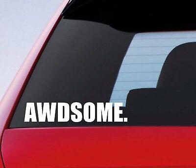AWDSOME Car Sticker 4x4 AWD Off Road Roading All Wheel Drive Truck Vinyl Decal