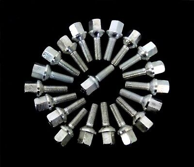 20x RADSCHRAUBE ALUFELGEN FÜR MERCEDES W123 C123 S123 W126 R107 M12x1.5x29mm