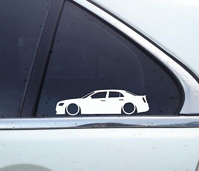 2X Lowered car outline stickers - For Chrysler 300 / 300C 2nd gen (2011+)