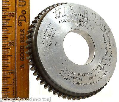 Vintage Industrial Spur Gear 3 1 2  Dia  W  56 Teeth Illinois Tool Works C 1951