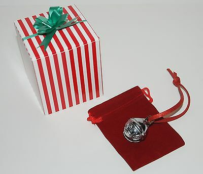 CHRISTMAS SLEIGH BELL Polar Express Like Candy Cane Box Hear The Ringing Bell  - Polar Express Sleigh Bell