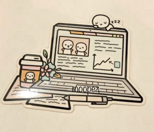 NEW *The Coffee Monsterz Co. Laptop Workspace Vinyl* TCMC sold Out Cute!