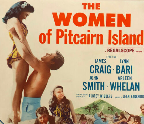WOMEN OF PITCAIRN ISLAND LOBBY CARD COMPLETE SET (8) MOVIE POSTER 1956