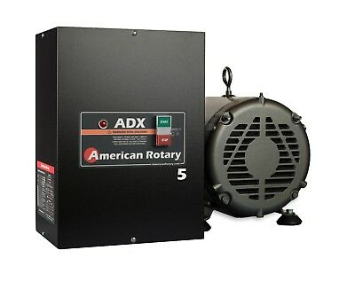 Rotary Phase Converter ADX5 5 HP 1 to 3 Phase CNC Extreme Duty American Made