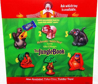 Mcdonalds Walt Disney The Jungle Book Happy Meal Toys Translite Poster Menu Sign