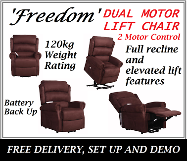 Brand NEW DUAL MOTOR Electric Lift Recliner Chair FREE DELIVERY