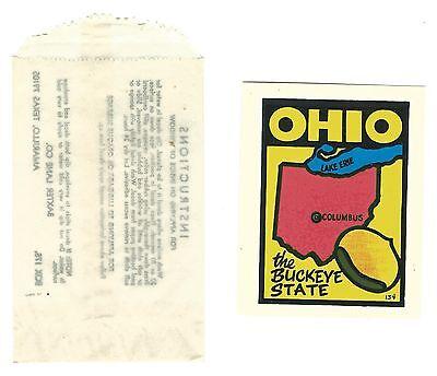 Vintage Window Luggage Decal OHIO Buckeye State Lake Erie Columbus Org Envelope