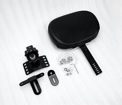 Plug-In Driver Rider Backrest Pad for Harley Touring Road King Glide 1997-2018