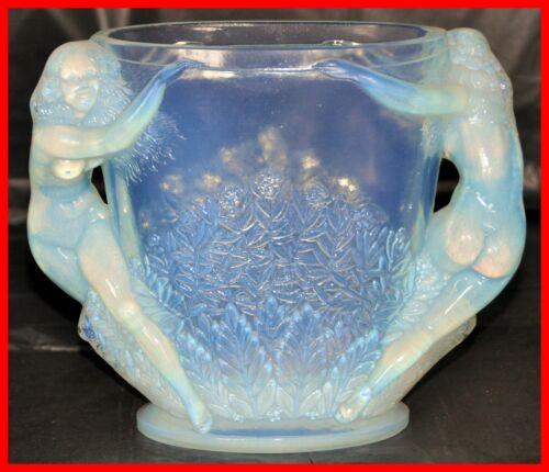 Sabino Opalescent Glass Vase Model Ovale Deux Femmes 7126