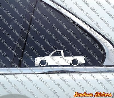 2X Lowered car stickers - for Chevrolet S10 pickup (1982-1993) Chevy S-10