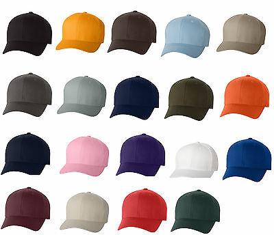 12 Classic Flexfit Blank Baseball Cap6277 Hat Wholesale Bulk Lot All Colors New! - Hats Bulk