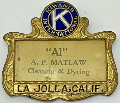 Vintage Kiwanis International Name Tag Badge La Jolla California