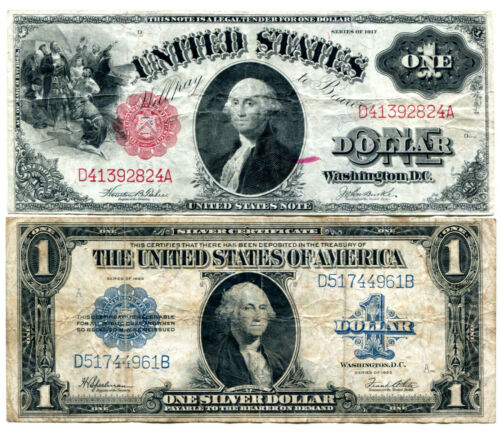 $1 1917 Legal Tender and $1 1923 Silver Certificate Horseblankets * AvenueCoin