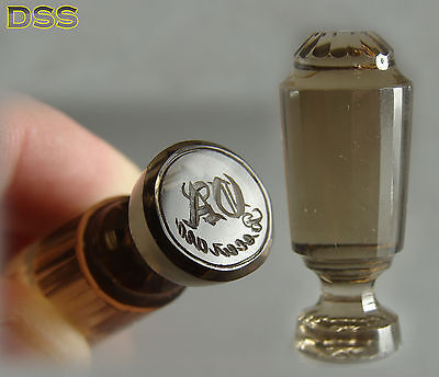 Antique Russian/Austrian Rock Crystal Cut Glass Quartz Wax Seal 95ct