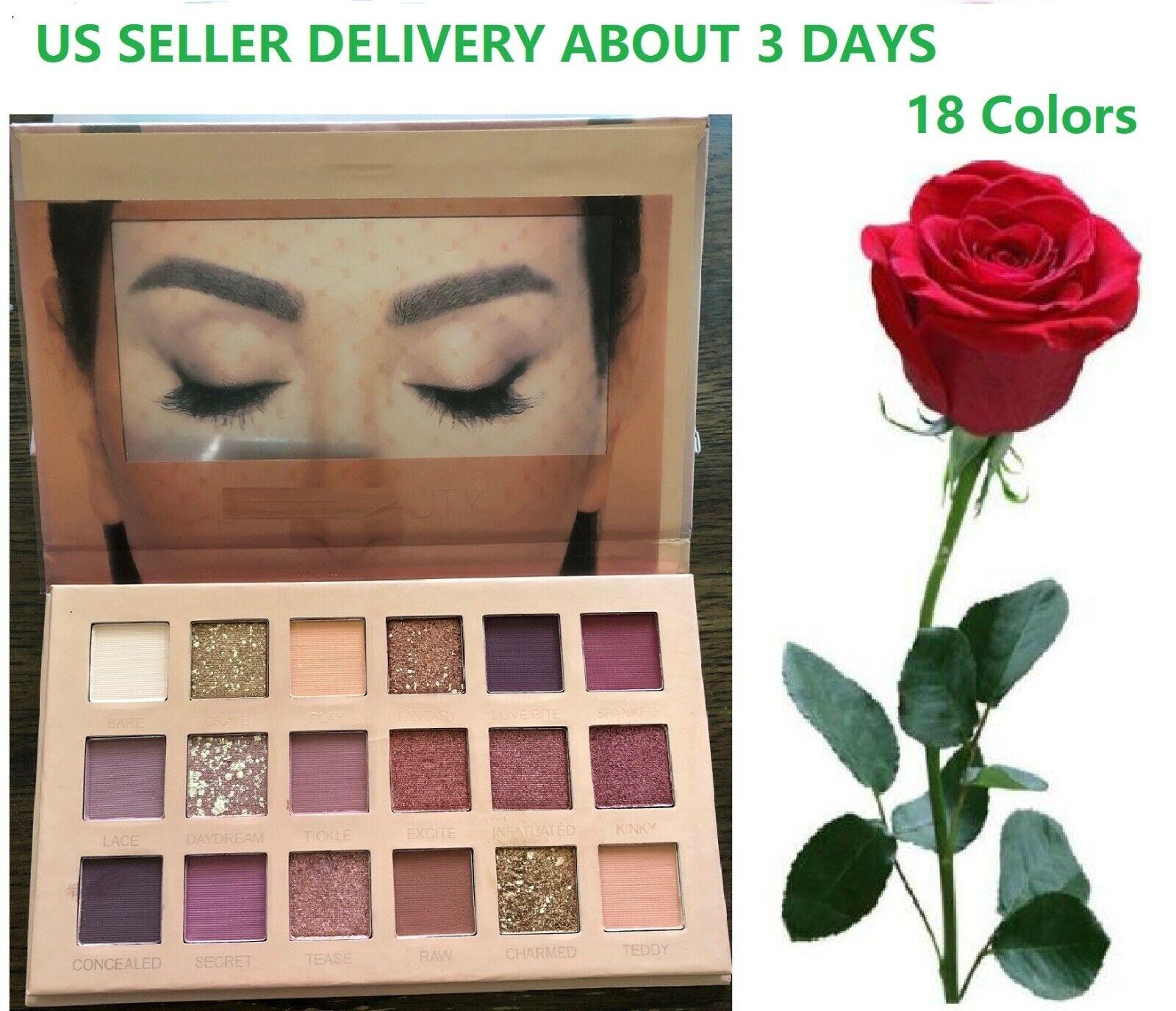 18 Colors Shimmer Matte Pigment Eyeshadow Palette Glitter Ey