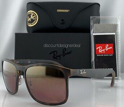 Ray-Ban RB4264CH Sunglasses 894/6B Matte Havana Gold Mirror POLARIZED Large (Ray Ban Brown Mirror)