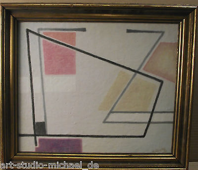 Italienischer Künstler der 50er Jahre U. Sirotti? Öl Flächen/Linienkomposition