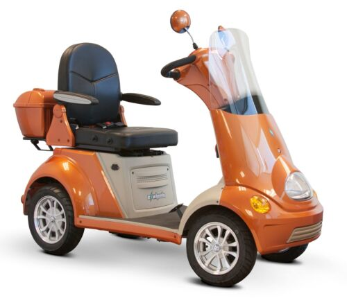 Orange Ewheels Fast Ew-52 4 Wheel Mobility Scooter, Alarm, Cupholder, Usb Port