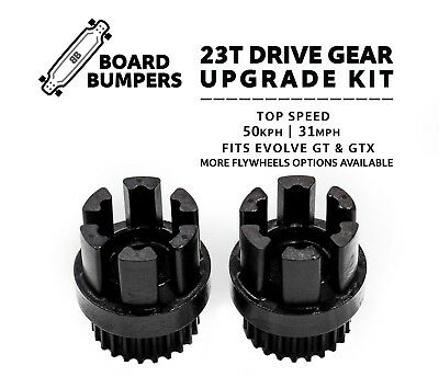 23T ST Drive Gear/Cog Upgrade Kit 50+kph Evolve Carbon & Bamboo GT & GTX