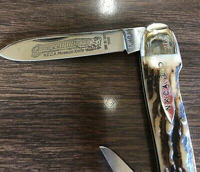 Kissing Crane Whittler's Knife 1980 NKCA Founders Edition Rob Klaas #276L Stag