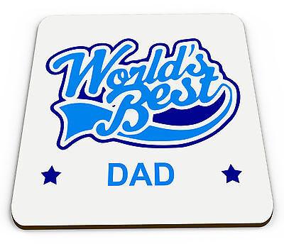 Worlds Best Dad Novelty Glossy Mug Coaster - - Worlds Best Dad Mug
