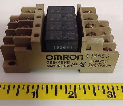 Omron 5a 250vac 24vdc Coil Terminal Relay Block G6b-4bnd