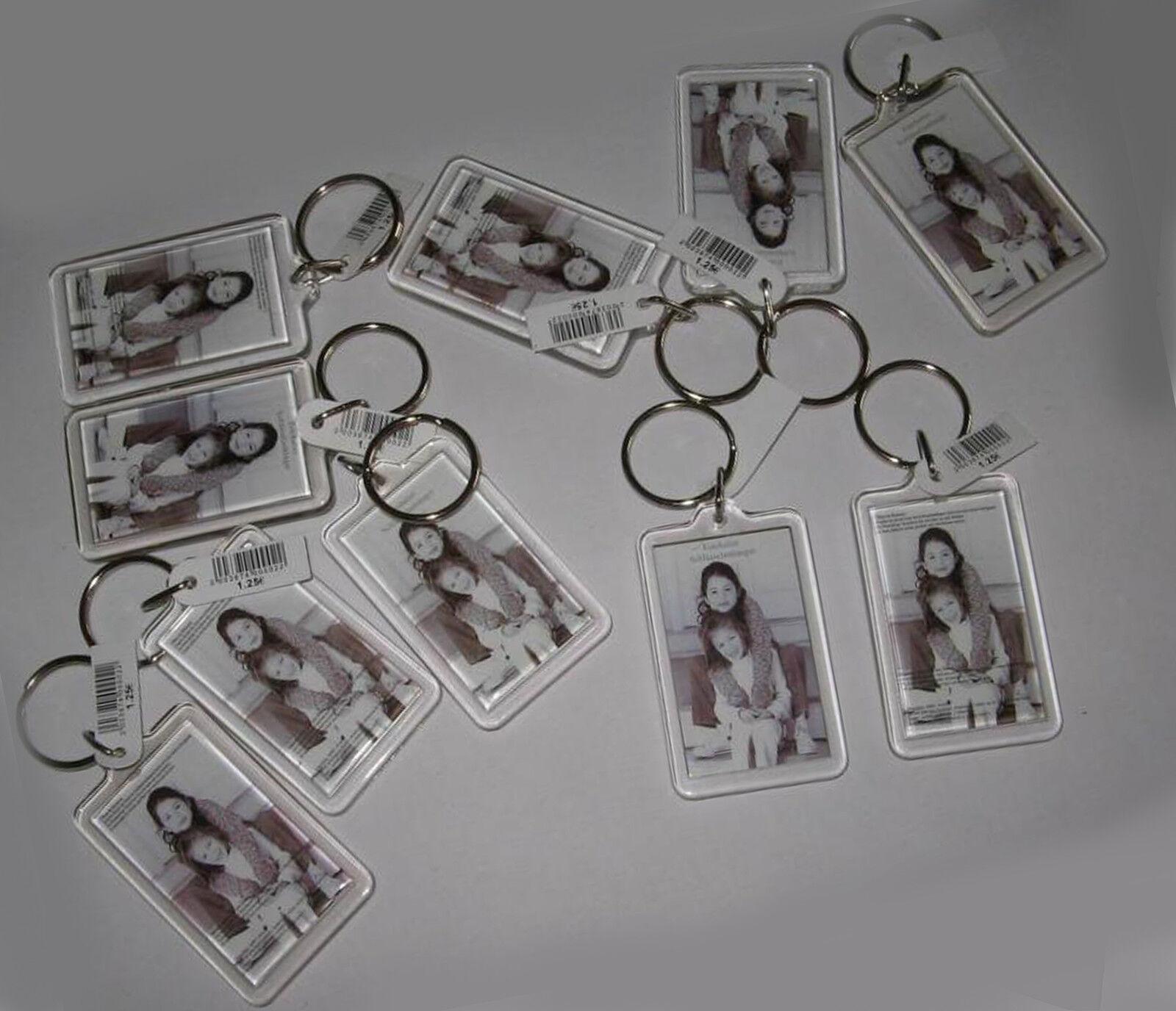 3,5,10,15,20,50 oder 100 Stück Acryl - Foto - Schlüsselanhänger Spitzenqualität