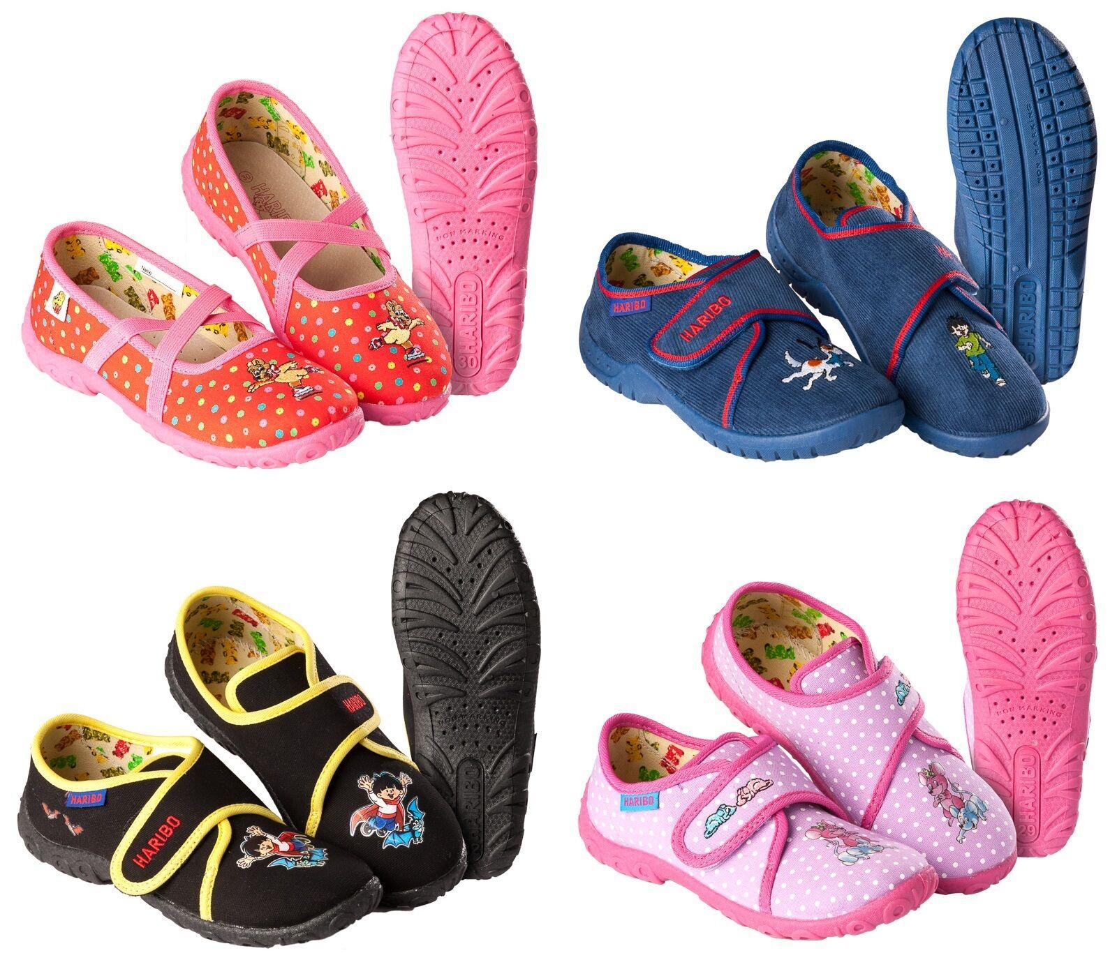 Kinder Pantoffeln Hausschuhe Ballerinas HARIBO Mädchen Jungen Größe: 25 - 35