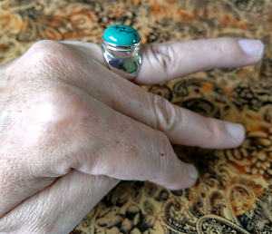 PRICE REDUCTION!!! Arizona Turquoise Ring, sz 7 US, 925 Silver, South Brisbane Brisbane South West Preview