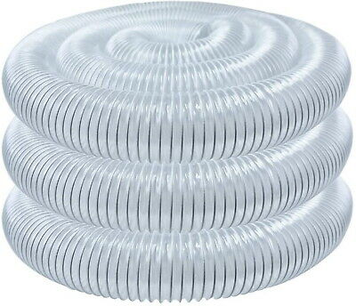 Dust Collector Hose Replacement 4-inch X 20-feet Clear Flexible Self Grounding
